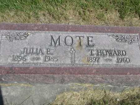 MOTE, JULIA E. - Dawes County, Nebraska | JULIA E. MOTE - Nebraska Gravestone Photos
