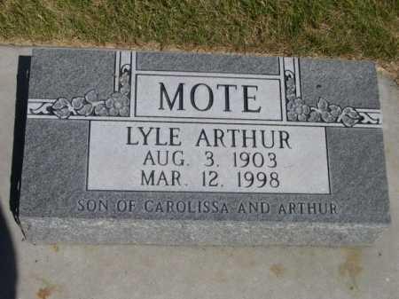 MOTE, LYLE ARTHUR - Dawes County, Nebraska | LYLE ARTHUR MOTE - Nebraska Gravestone Photos