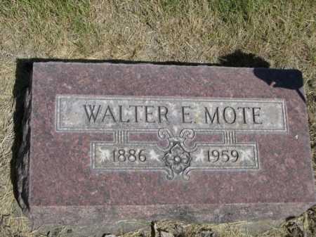 MOTE, WALTER E. - Dawes County, Nebraska | WALTER E. MOTE - Nebraska Gravestone Photos