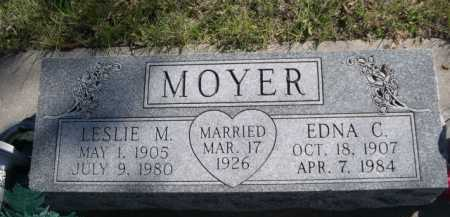 MOYER, LESLIE M. - Dawes County, Nebraska | LESLIE M. MOYER - Nebraska Gravestone Photos