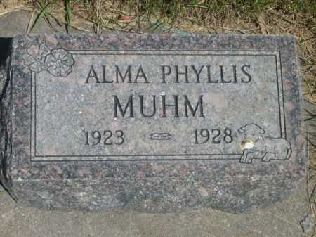 MUHM, ALMA PHYLLIS - Dawes County, Nebraska   ALMA PHYLLIS MUHM - Nebraska Gravestone Photos