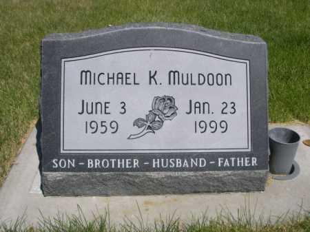 MULDOON, MICHAEL K. - Dawes County, Nebraska | MICHAEL K. MULDOON - Nebraska Gravestone Photos