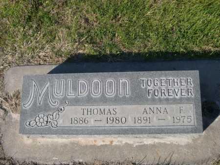 MULDOON, THOMAS - Dawes County, Nebraska | THOMAS MULDOON - Nebraska Gravestone Photos
