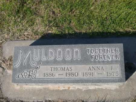 MULDOON, ANNA F. - Dawes County, Nebraska | ANNA F. MULDOON - Nebraska Gravestone Photos