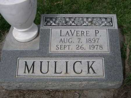 MULICK, LAVERE P. - Dawes County, Nebraska   LAVERE P. MULICK - Nebraska Gravestone Photos