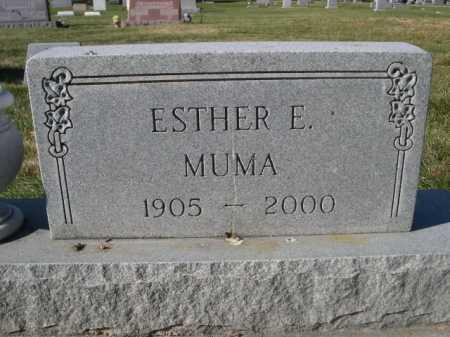 MUMA, ESTHER E. - Dawes County, Nebraska | ESTHER E. MUMA - Nebraska Gravestone Photos