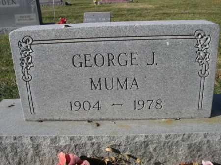 MUMA, GEORGE J. - Dawes County, Nebraska | GEORGE J. MUMA - Nebraska Gravestone Photos