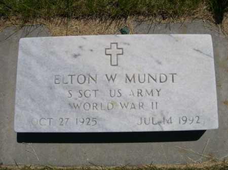 MUNDT, ELTON W. - Dawes County, Nebraska | ELTON W. MUNDT - Nebraska Gravestone Photos