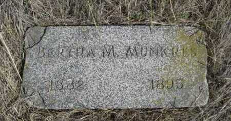 MUNKRES, BERTHA M. - Dawes County, Nebraska | BERTHA M. MUNKRES - Nebraska Gravestone Photos