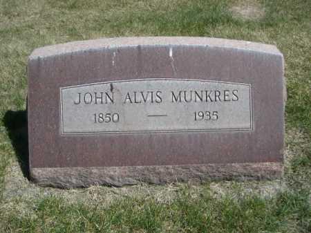 MUNKRES, JOHN ALVIS - Dawes County, Nebraska | JOHN ALVIS MUNKRES - Nebraska Gravestone Photos