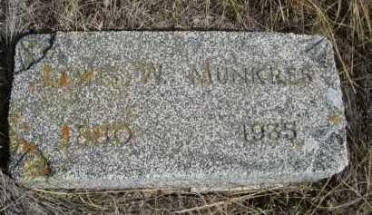 MUNKRES, LEWIS W. - Dawes County, Nebraska | LEWIS W. MUNKRES - Nebraska Gravestone Photos