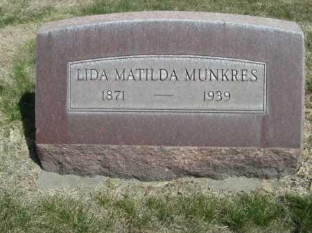 MUNKRES, LIDA MATILDA - Dawes County, Nebraska | LIDA MATILDA MUNKRES - Nebraska Gravestone Photos