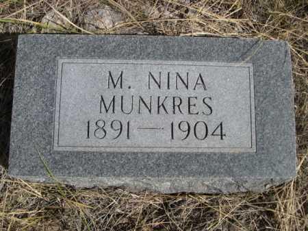 MUNKRES, M NINA - Dawes County, Nebraska   M NINA MUNKRES - Nebraska Gravestone Photos
