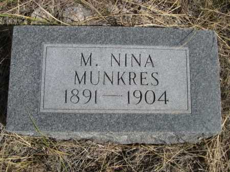 MUNKRES, M NINA - Dawes County, Nebraska | M NINA MUNKRES - Nebraska Gravestone Photos