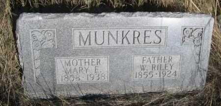 MUNKRES, MARY E. - Dawes County, Nebraska | MARY E. MUNKRES - Nebraska Gravestone Photos