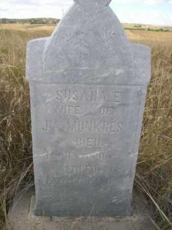MUNKRES, SUSANA E. - Dawes County, Nebraska | SUSANA E. MUNKRES - Nebraska Gravestone Photos