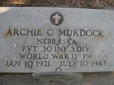 MURDOCK, ARCHIE C. - Dawes County, Nebraska | ARCHIE C. MURDOCK - Nebraska Gravestone Photos