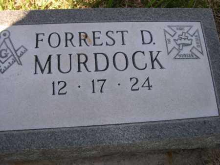 MURDOCK, FOREST D. - Dawes County, Nebraska | FOREST D. MURDOCK - Nebraska Gravestone Photos