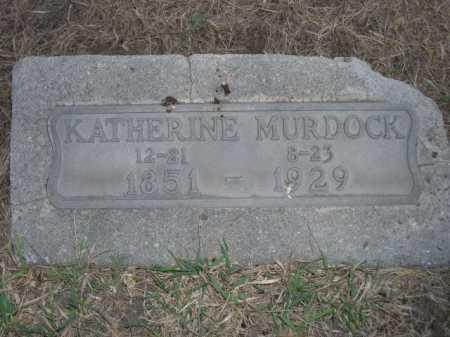 MURDOCK, KATHERINE - Dawes County, Nebraska | KATHERINE MURDOCK - Nebraska Gravestone Photos