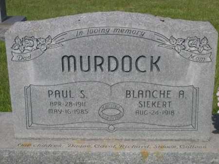 SIEKERT MURDOCK, BLANCHE A - Dawes County, Nebraska | BLANCHE A SIEKERT MURDOCK - Nebraska Gravestone Photos