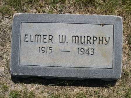 MURPHY, ELMER W. - Dawes County, Nebraska | ELMER W. MURPHY - Nebraska Gravestone Photos