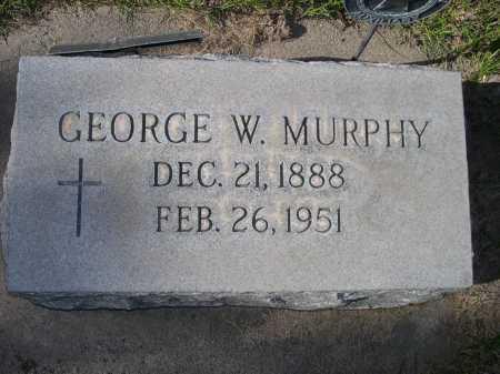 MURPHY, GEORGE W. - Dawes County, Nebraska   GEORGE W. MURPHY - Nebraska Gravestone Photos