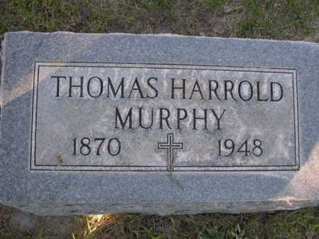 MURPHY, THOMAS HARROLD - Dawes County, Nebraska | THOMAS HARROLD MURPHY - Nebraska Gravestone Photos