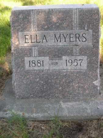 MYERS, ELLA - Dawes County, Nebraska | ELLA MYERS - Nebraska Gravestone Photos