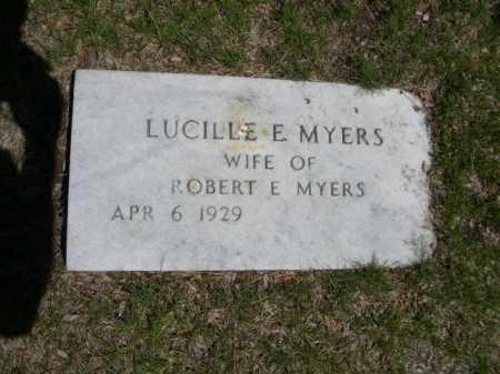 MYERS, LUCILLE E. - Dawes County, Nebraska | LUCILLE E. MYERS - Nebraska Gravestone Photos