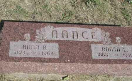 NANCE, RONSH L. - Dawes County, Nebraska | RONSH L. NANCE - Nebraska Gravestone Photos