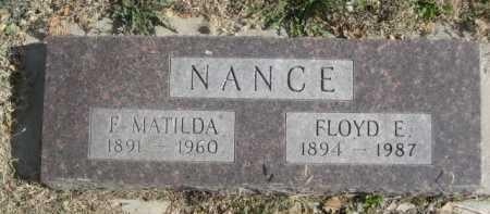 NANCE, F. MATILDA - Dawes County, Nebraska | F. MATILDA NANCE - Nebraska Gravestone Photos