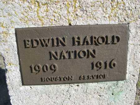 NATION, EDWN HAROLD - Dawes County, Nebraska | EDWN HAROLD NATION - Nebraska Gravestone Photos