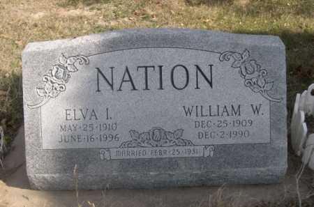 NATION, ELVA I. - Dawes County, Nebraska | ELVA I. NATION - Nebraska Gravestone Photos