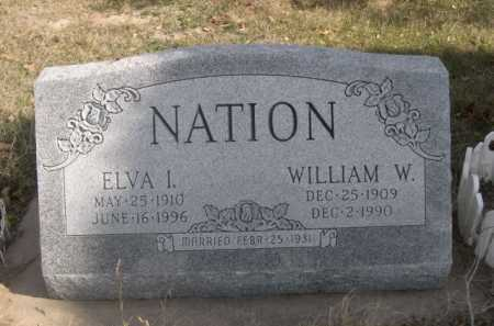 NATION, ELVA I. - Dawes County, Nebraska | ELVA I. NATION - Nebraska Gravestone Photos