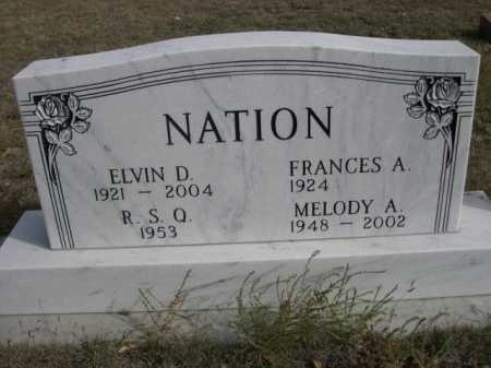 NATION, MELODY A. - Dawes County, Nebraska   MELODY A. NATION - Nebraska Gravestone Photos