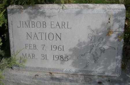 NATION, JIMBOB EARL - Dawes County, Nebraska | JIMBOB EARL NATION - Nebraska Gravestone Photos