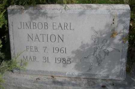 NATION, JIMBOB EARL - Dawes County, Nebraska | JIMBOB EARL NATION - Nebraska Gravestone Photos
