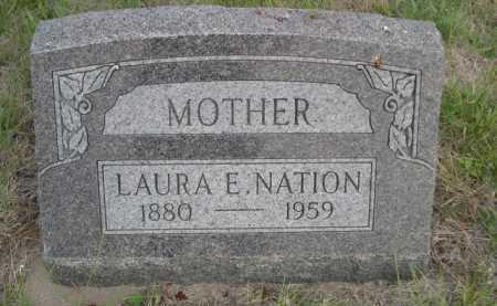 NATION, LAURA E. - Dawes County, Nebraska | LAURA E. NATION - Nebraska Gravestone Photos
