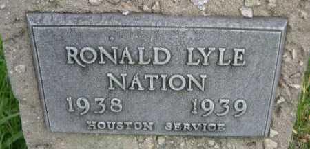 NATION, RONALD LYLE - Dawes County, Nebraska | RONALD LYLE NATION - Nebraska Gravestone Photos