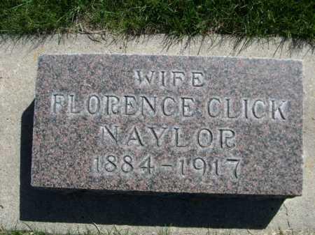 NAYLOR, FLORENCE CLICK - Dawes County, Nebraska | FLORENCE CLICK NAYLOR - Nebraska Gravestone Photos