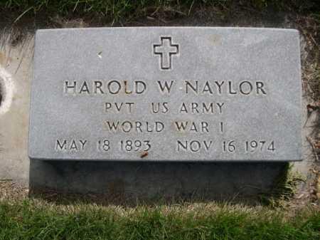 NAYLOR, HAROLD W. - Dawes County, Nebraska   HAROLD W. NAYLOR - Nebraska Gravestone Photos