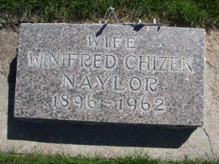 NAYLOR, WINIFRED CHIZEK - Dawes County, Nebraska   WINIFRED CHIZEK NAYLOR - Nebraska Gravestone Photos