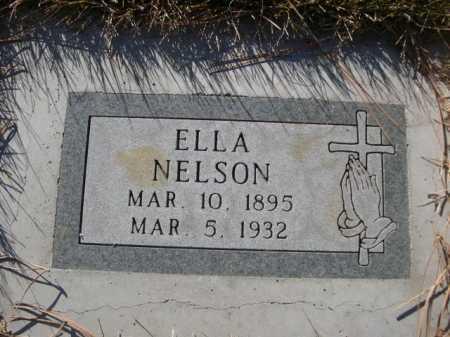 NELSON, ELLA - Dawes County, Nebraska | ELLA NELSON - Nebraska Gravestone Photos