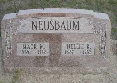NEUSBAUM, NELLIE K. - Dawes County, Nebraska | NELLIE K. NEUSBAUM - Nebraska Gravestone Photos