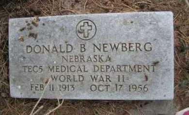 NEWBERG, DONALD B. - Dawes County, Nebraska | DONALD B. NEWBERG - Nebraska Gravestone Photos