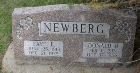 NEWBERG, DONALD B. - Dawes County, Nebraska | DONALD B. NEWBERG - Nebraska Gravestone Photos