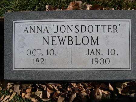 NEWBLOM, ANNA 'JONSDOTTER' - Dawes County, Nebraska | ANNA 'JONSDOTTER' NEWBLOM - Nebraska Gravestone Photos