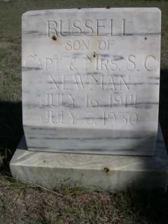 NEWMAN, RUSSELL - Dawes County, Nebraska | RUSSELL NEWMAN - Nebraska Gravestone Photos