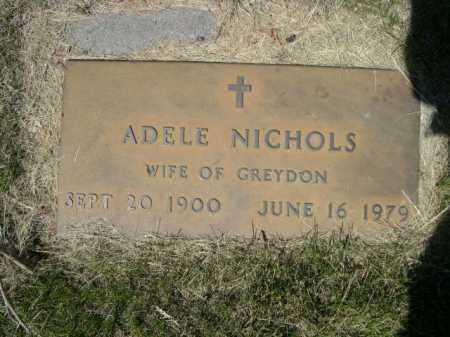 NICHOLS, ADELE - Dawes County, Nebraska   ADELE NICHOLS - Nebraska Gravestone Photos