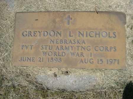 NICHOLS, GREYDON L. - Dawes County, Nebraska | GREYDON L. NICHOLS - Nebraska Gravestone Photos